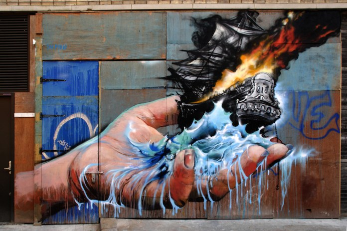 Graffiti by Jim Vision in New York, USA