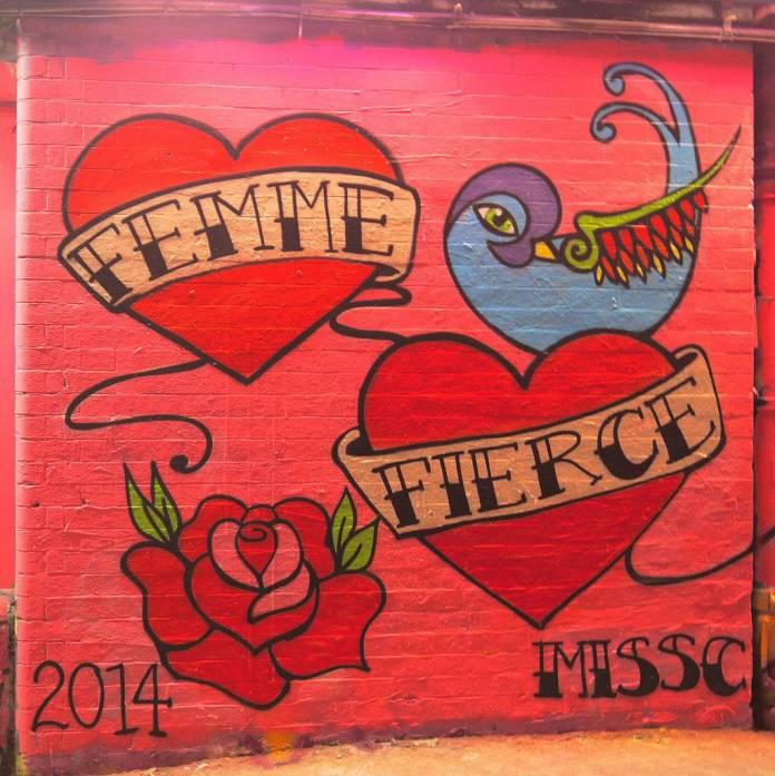 Miss C's tattoo-inspired street art