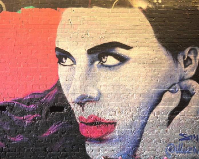 Mural by female street artist Zina