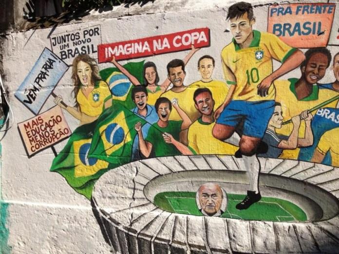 Street Art FIFA World Cup in Rio de Janeiro, Brazil 545643577