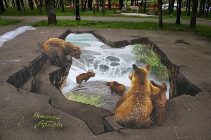 3D Street Art by Arndt Nikolaj