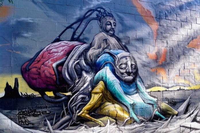 Street Art by Drew in Chicago, USA