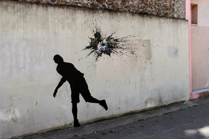 Street Art by Pejac in Paris, France 3