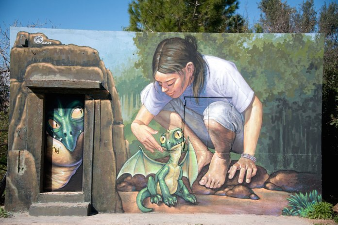 Street Art by Wild Drawing at Plato's Academy Park in Athens, Greece 3095. jpg