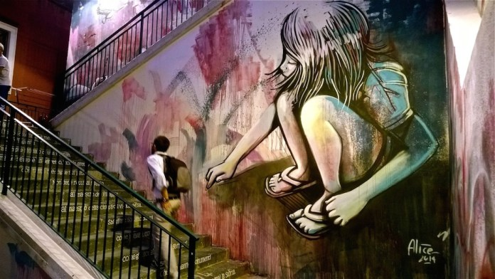 Street Art by Alice Pasquini in Salerno, Italy 5