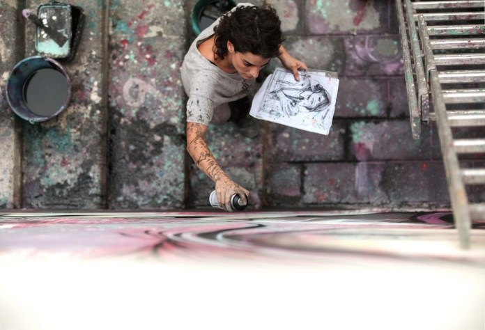Street Art by Alice Pasquini in Salerno, Italy 7