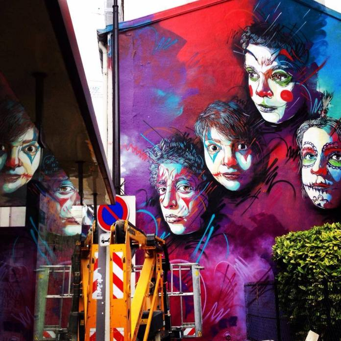 Street Art by C215 at Rue Pelleport- Paris 20ème, France 2