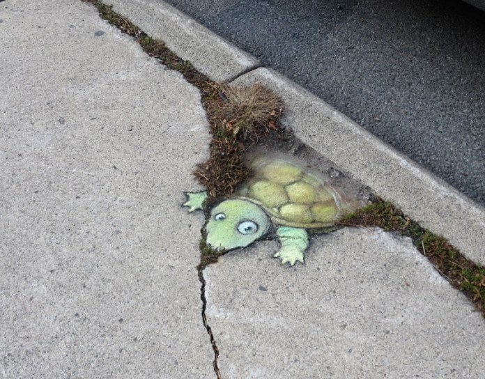 Calk Art by David Zinn in Michigan, USA 21595656