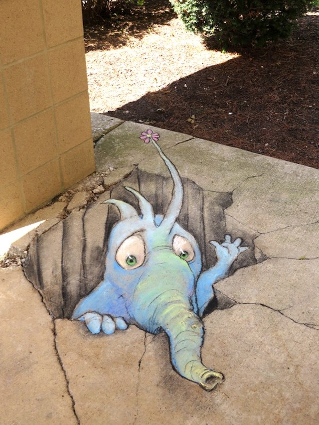 Calk Art by David Zinn in Michigan, USA 96943961957