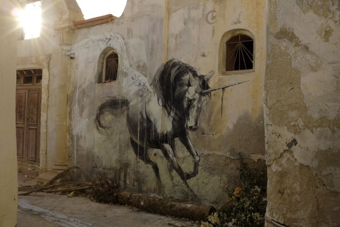 Hunt Her - Street Art by Faith47 in Tunisia