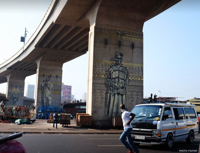 Street Art by Fait47 in Durban, South Africa 4