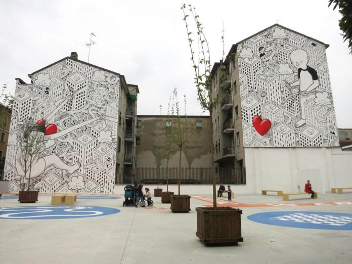 Street Art by Millo in Milano, Italy 2
