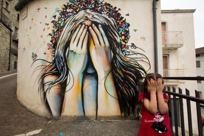 Street Art by Alice Pasquini in Civitacampomarano, Molise, Italy. Photo by Jessica Stewart 1
