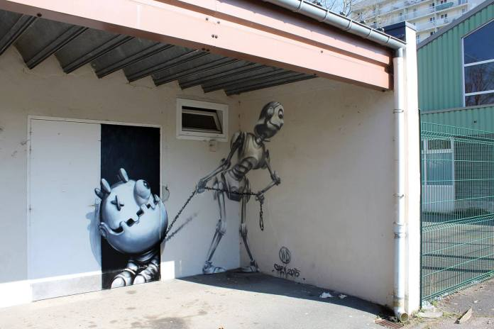 Street Art by Wild Drawing 2015 - Hey Ho, Let´s Go in France