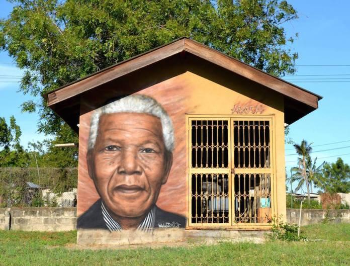 Mandela painted in Tanzania 2010