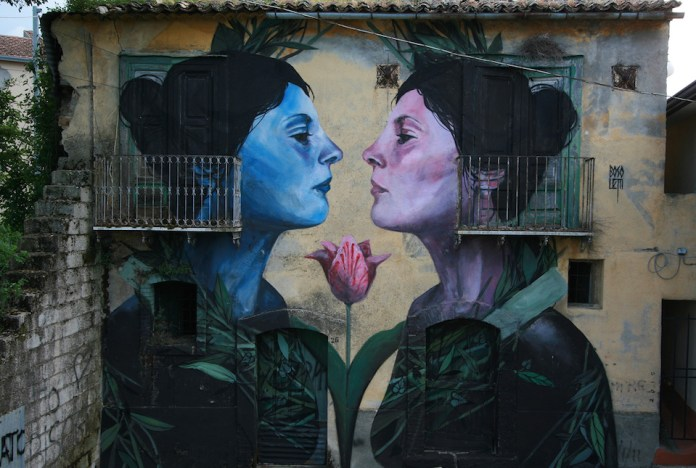 Street Art by Francisco Bosoletti in Bonito, Avellino, Italy 1
