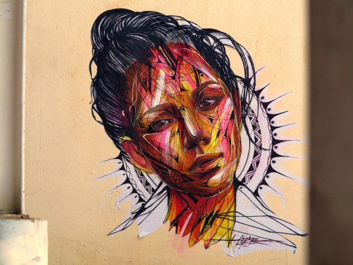 Street Art by Hopare in Les 2 Alpes, France 1