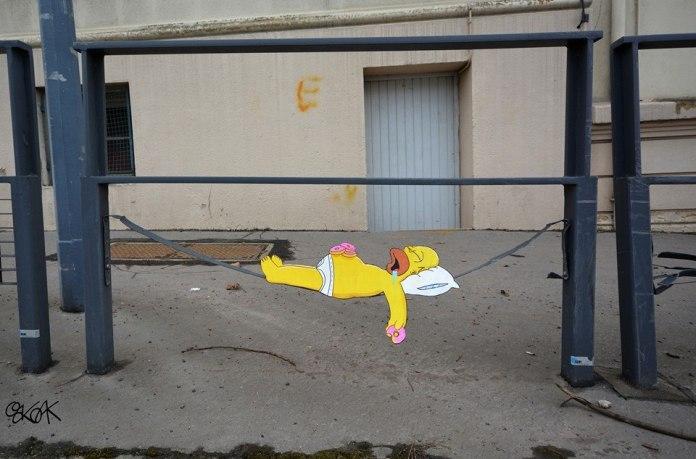 Street Art by Oakoak - Simpsons 3