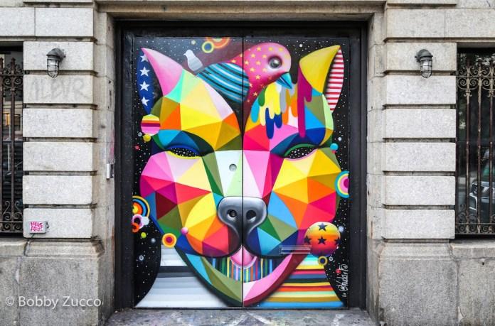 """""""SoHo Dog"""" – By Okuda in Soho, Brooklyn"""