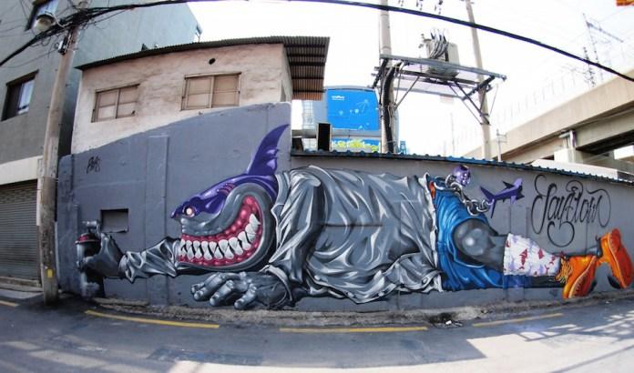 Street Art fromSeoul Area, South Korea. Photo byMark Johnson2