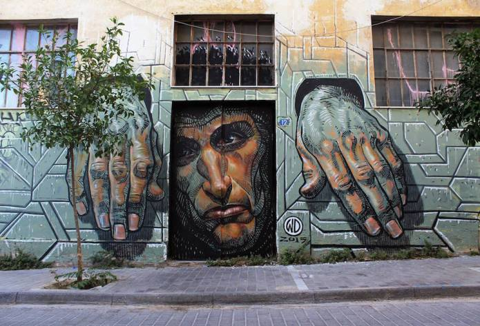 Hope Dies Last – By Wild Drawing in Athens, Greece