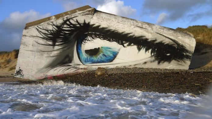 Street Art by Cécé - In Siouville-Hague, France 1