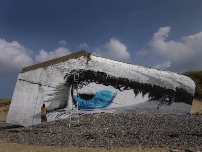 Street Art by Cécé - In Siouville-Hague, France 6