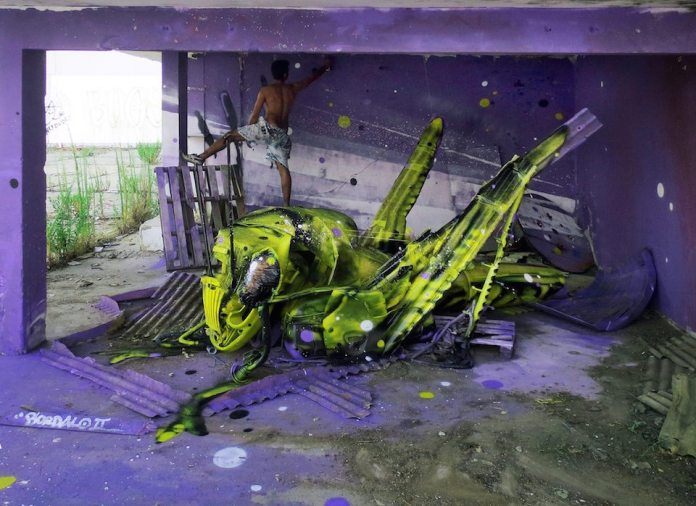 10 Street Art by Bordalo II in Lisbon, Portugal
