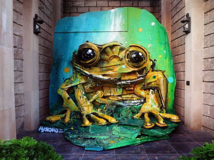 4 Street Art by Bordalo II in Baku Azerbaijão at From Trash To Art Festival