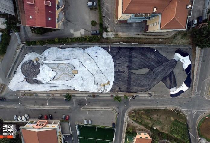 Street Art by Ella&Pitr – In Quadrivio di Campagna, Italy