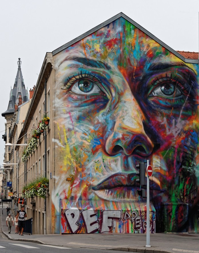 Street Art by David Walker in Lorraine, France