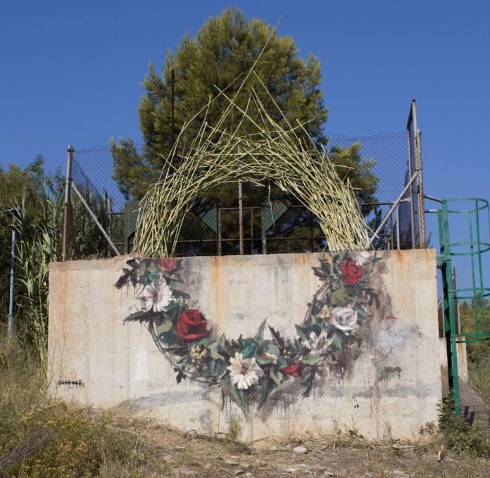 Street Art by Borondo at Miau Fanzara in Spain