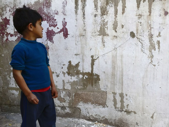 Street Art by Pejac – In Al-Hussein, a Palestinian refugee camp in Amman Jordan