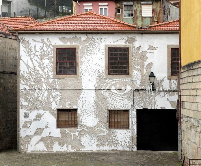 Street Art by Vhils in Porto, Portugal