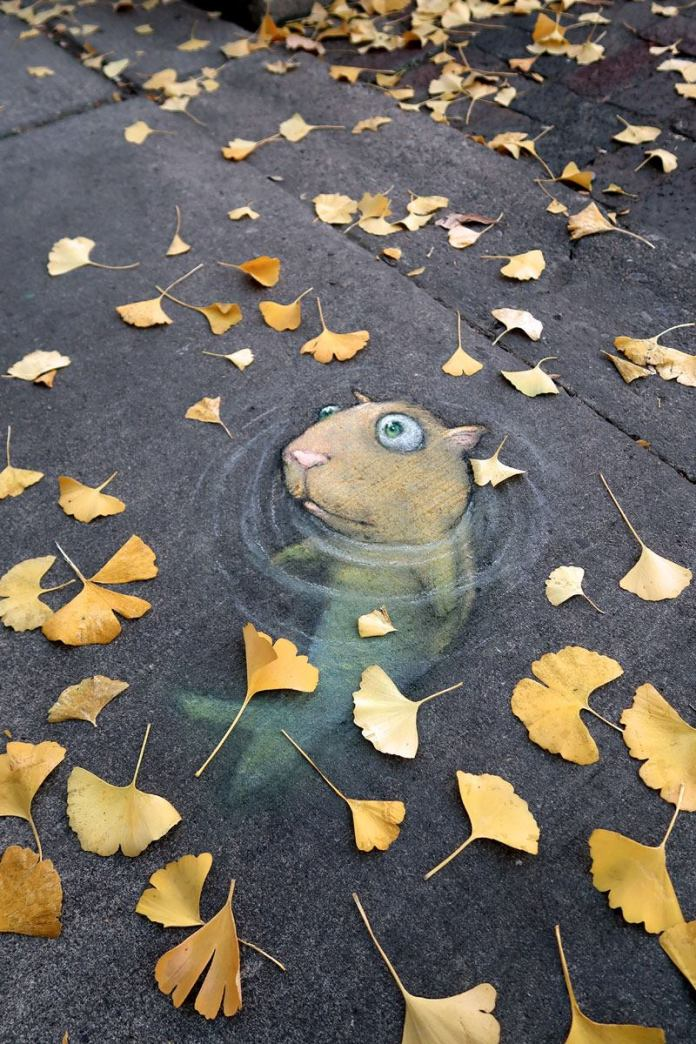 By David Zinn – In Ann Arbor, Michigan, USA