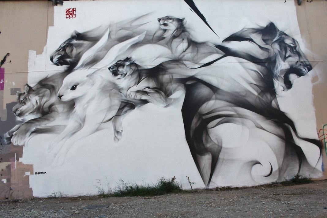 Street Art by SatrXX - In Lyon, France. Photo by meuh1246.