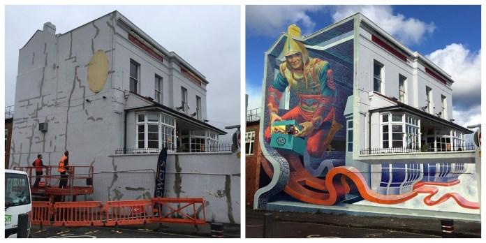 Box of Imagination – Street Art by Wild Drawing in Cheltenham, UK
