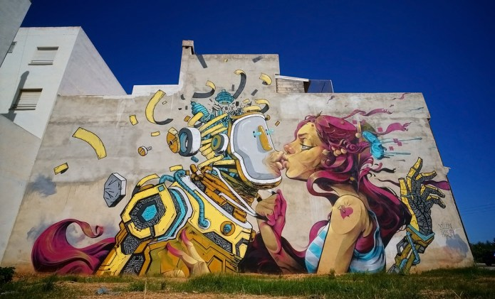 Street Art by Isaac Mahow – In Torreblanca, Spain