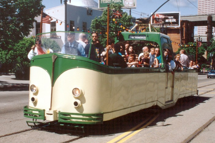 Boat tram No. 228 on a charter