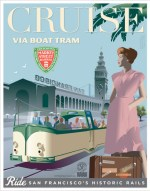 Cruise by Boat Tram Poster