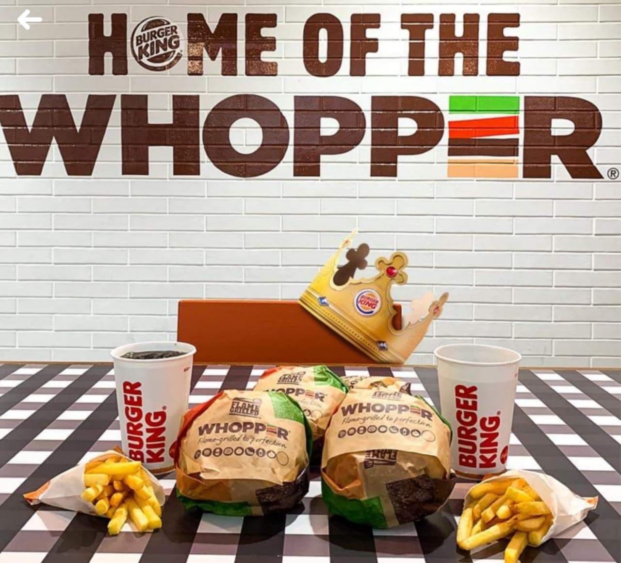 Which countries do and don't have Burger King