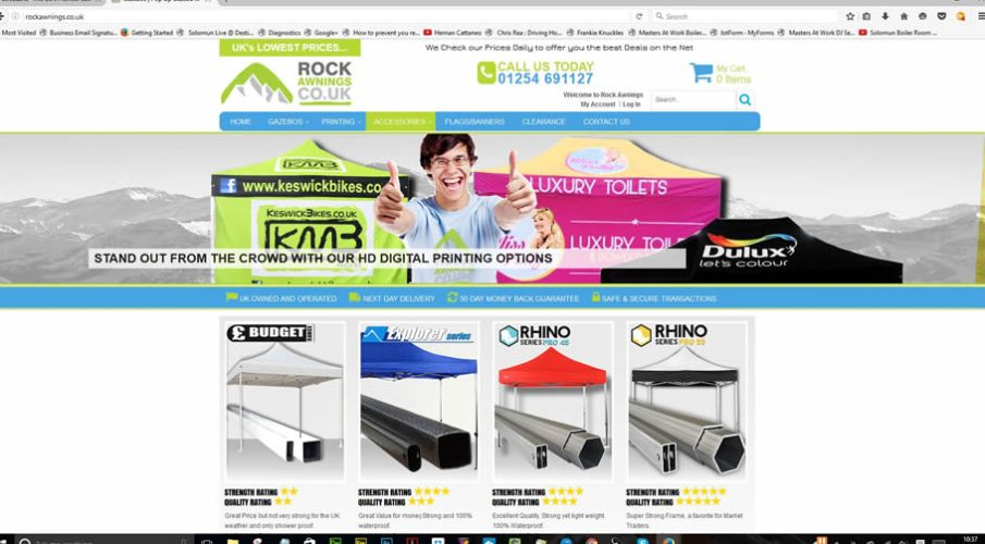Rock Awnings launches brand new website to showcase their superbly engineered range of gazebos