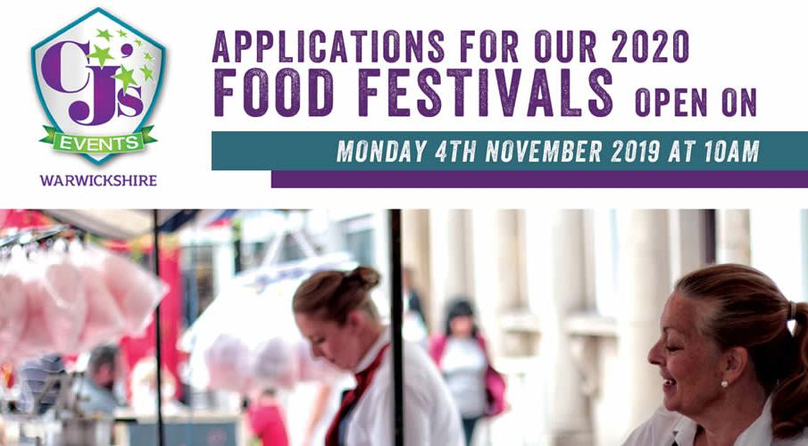 Applications for CJ Events 2020 Food Festivals will open Monday 4th Nov