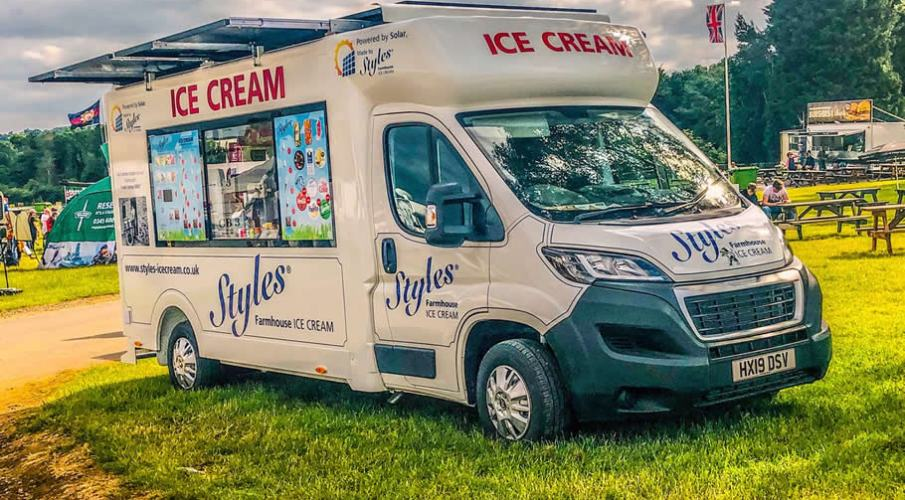WORLD'S FIRST SOLAR and BATTERY POWERED ICE CREAM VAN AT THE ICE CREAM and ARTISAN FOOD SHOW 2020