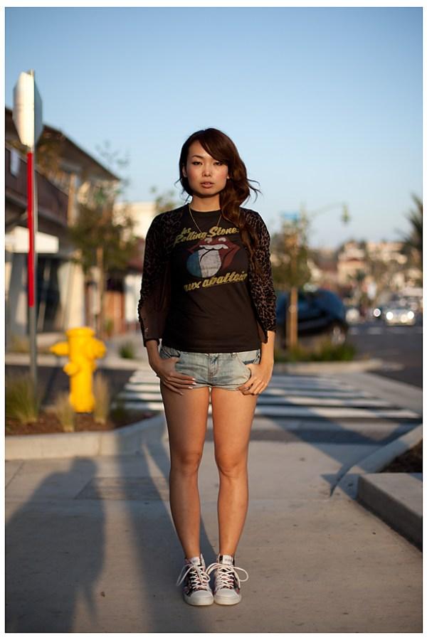 Kiki Hermosa Beach street style portrait