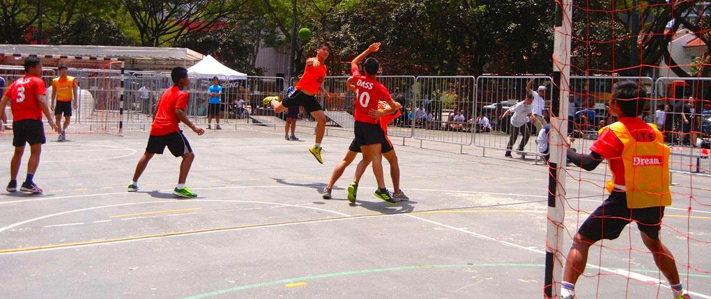 95cf1ab6135 Singapore: Street Handball Challenge Chevron Handball Club and *SCAPE
