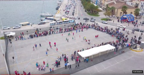 369 2018 Greece, 1st Street Handball Tournament Nafplio City Drone Video 3