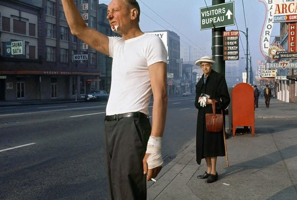 Man with bandage by Fred Herzog