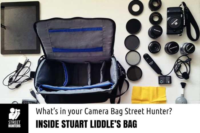 Stuart Liddle's Camera Bag