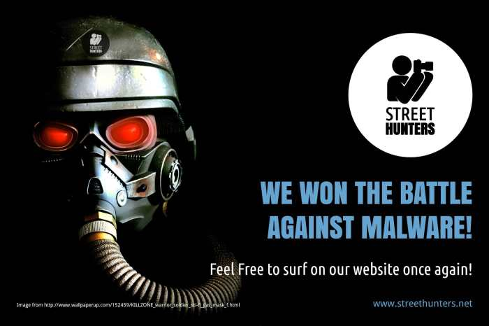 Website is clean from Malware and protected against attacks